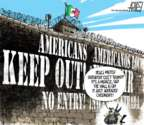 Cartoonist Steve Artley  Steve Artley's Editorial Cartoons 2016-11-15 border fence