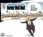 Cartoonist Steve Artley  Steve Artley's Editorial Cartoons 2019-01-27 border fence