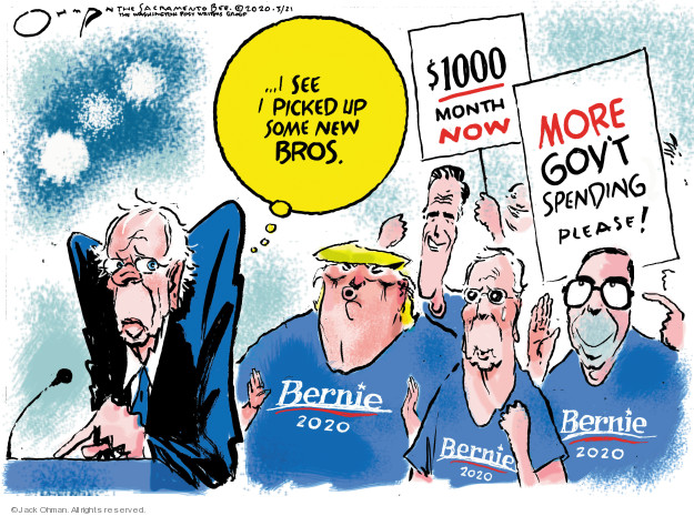 � I see I picked up some new bros. $1000 month now. More govt spending please! Bernie 2020.