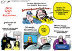 Cartoonist Jack Ohman  Jack Ohman's Editorial Cartoons 2018-05-30 television news