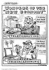 Cartoonist Matt Wuerker  Matt Wuerker's Editorial Cartoons 2002-12-10 new job