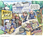 Cartoonist Matt Wuerker  Matt Wuerker's Editorial Cartoons 2008-11-10 defense policy