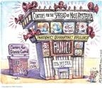 Cartoonist Matt Wuerker  Matt Wuerker's Editorial Cartoons 2009-05-06 television news