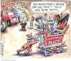 Cartoonist Matt Wuerker  Matt Wuerker's Editorial Cartoons 2009-05-11 weapon