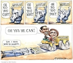 Cartoonist Matt Wuerker  Matt Wuerker's Editorial Cartoons 2010-03-23 battle