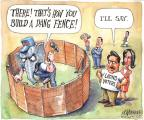 Cartoonist Matt Wuerker  Matt Wuerker's Editorial Cartoons 2010-06-17 border fence