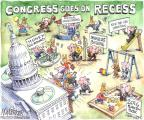 Cartoonist Matt Wuerker  Matt Wuerker's Editorial Cartoons 2013-08-02 congress recess