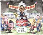 Cartoonist Matt Wuerker  Matt Wuerker's Editorial Cartoons 2013-09-10 war is hell