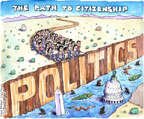 Cartoonist Matt Wuerker  Matt Wuerker's Editorial Cartoons 2014-09-10 immigration