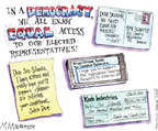 Cartoonist Matt Wuerker  Matt Wuerker's Editorial Cartoons 2014-10-16 writing