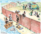 Cartoonist Matt Wuerker  Matt Wuerker's Editorial Cartoons 2014-11-21 border fence