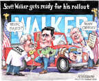 Cartoonist Matt Wuerker  Matt Wuerker's Editorial Cartoons 2015-07-13 flag