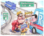 Cartoonist Matt Wuerker  Matt Wuerker's Editorial Cartoons 2016-02-29 2016 Election Chris Christie