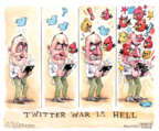 Cartoonist Matt Wuerker  Matt Wuerker's Editorial Cartoons 2016-05-05 war is hell