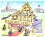 Cartoonist Matt Wuerker  Matt Wuerker's Editorial Cartoons 2017-10-31 emoluments clause