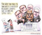 Cartoonist Matt Wuerker  Matt Wuerker's Editorial Cartoons 2018-06-05 supreme court judge