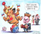 Cartoonist Matt Wuerker  Matt Wuerker's Editorial Cartoons 2018-07-16 Russia