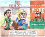 Cartoonist Matt Wuerker  Matt Wuerker's Editorial Cartoons 2019-04-08 immigration