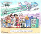 Cartoonist Matt Wuerker  Matt Wuerker's Editorial Cartoons 2019-04-10 travel cost