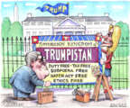 Cartoonist Matt Wuerker  Matt Wuerker's Editorial Cartoons 2019-06-20 presidential administration
