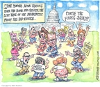 Cartoonist Matt Wuerker  Matt Wuerker's Editorial Cartoons 2007-09-12 Bush and democrats