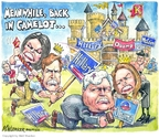 Cartoonist Matt Wuerker  Matt Wuerker's Editorial Cartoons 2008-02-05 battle