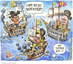 Cartoonist Matt Wuerker  Matt Wuerker's Editorial Cartoons 2008-03-25 battle