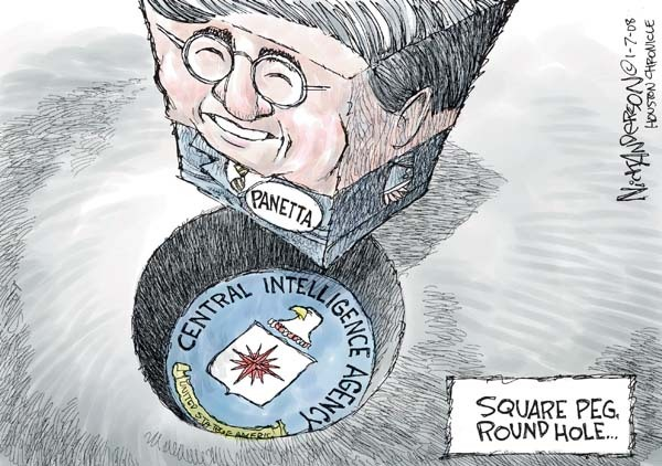 Panetta. Central Intelligence Agency. United States of America. Square peg, round hole.