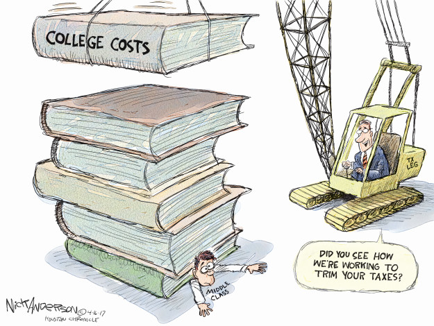 College Costs. Middle class. Did you see how were working to trim your taxes? Tx leg.