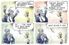Cartoonist Nick Anderson  Nick Anderson's Editorial Cartoons 2005-04-19 obstruction of justice