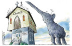 Cartoonist Nick Anderson  Nick Anderson's Editorial Cartoons 2005-04-26 religion