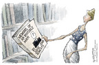 Cartoonist Nick Anderson  Nick Anderson's Editorial Cartoons 2005-09-09 supreme court nominee