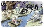 Cartoonist Nick Anderson  Nick Anderson's Editorial Cartoons 2004-10-28 fearful