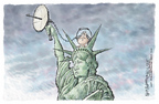 Cartoonist Nick Anderson  Nick Anderson's Editorial Cartoons 2005-12-28 fourth amendment