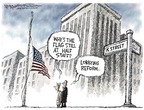 Cartoonist Nick Anderson  Nick Anderson's Editorial Cartoons 2007-01-05 half mast flag