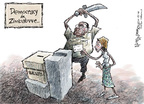 Cartoonist Nick Anderson  Nick Anderson's Editorial Cartoons 2008-06-25 voter intimidation