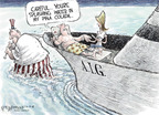 Cartoonist Nick Anderson  Nick Anderson's Editorial Cartoons 2008-10-10 Financial Market