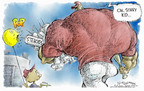 Cartoonist Nick Anderson  Nick Anderson's Editorial Cartoons 2004-12-08 muscle