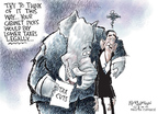 Cartoonist Nick Anderson  Nick Anderson's Editorial Cartoons 2009-02-04 tax payment