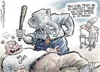 Cartoonist Nick Anderson  Nick Anderson's Editorial Cartoons 2009-09-25 political credibility
