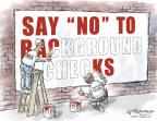 Cartoonist Nick Anderson  Nick Anderson's Editorial Cartoons 2013-04-19 gun violence