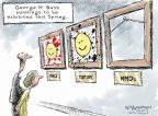 Cartoonist Nick Anderson  Nick Anderson's Editorial Cartoons 2014-02-28 George Bush painting
