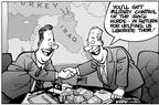 Cartoonist Kirk Anderson  Kirk Anderson's Editorial Cartoons 2003-02-07 diplomatic