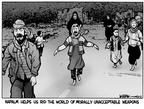 Cartoonist Kirk Anderson  Kirk Anderson's Editorial Cartoons 2003-08-01 chemical weapon