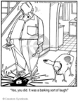Cartoonist Jerry Van Amerongen  Ballard Street 2008-02-08 pet the dog