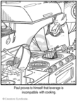 Cartoonist Jerry Van Amerongen  Ballard Street 2008-02-29 cooking