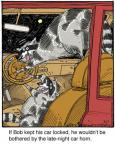Cartoonist Jerry Van Amerongen  Ballard Street 2014-03-21 animal horn