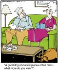 Cartoonist Jerry Van Amerongen  Ballard Street 2014-06-03 famous dog