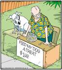 Cartoonist Jerry Van Amerongen  Ballard Street 2015-06-15 dog treat