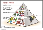 Cartoonist Clay Bennett  Clay Bennett's Editorial Cartoons 2008-05-06 cheese